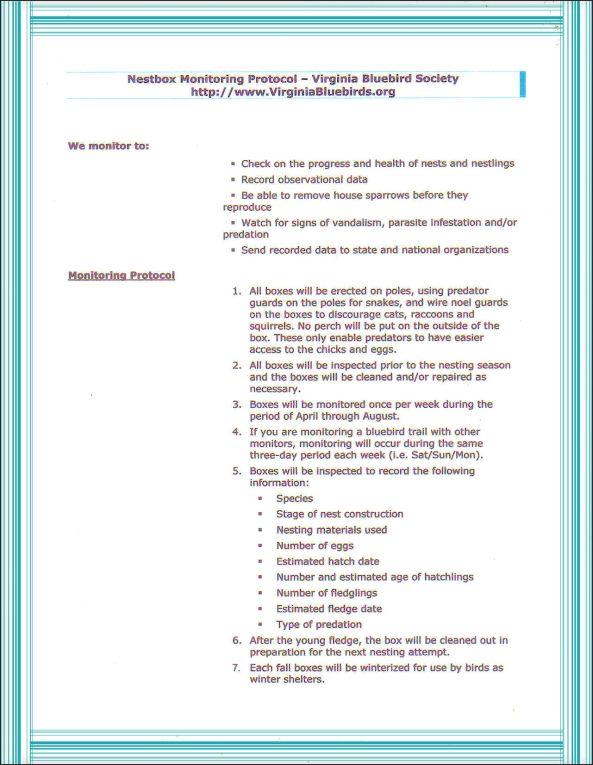 VBS Monitoring Protocol