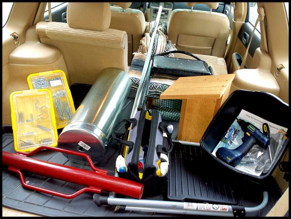 When I install new nestboxes, this is what my car looks like. I can do this all by myself!